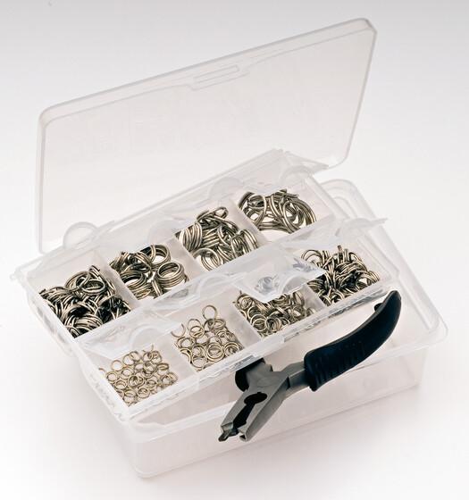 Behr Springring Sortimentsbox mit 310 Stück 5 bis 18mm komplett mit Zange