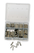 Klemmhülsen Sortimentsbox von Behr mit 210 Stück sortiert von 1-3mm aus Messing
