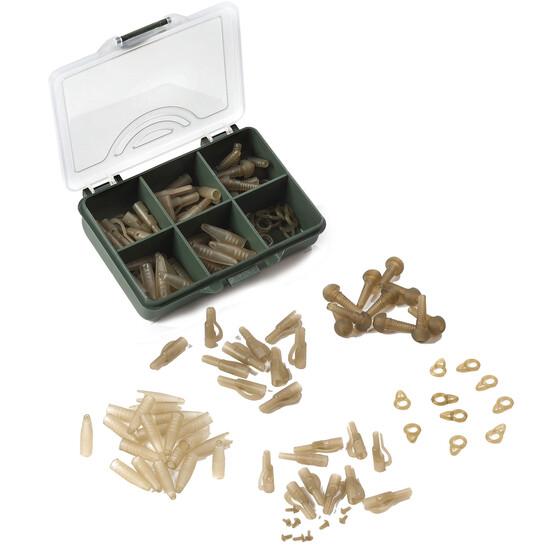 Behr RedCarp Lead Clip Set 1 mit 60 Teilen Karpfenzubehör in einer Kunststoffbox