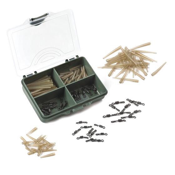 Behr RedCarp Anti-Tangle Sleeve Set 1 Karpfenzubehör 70 Teile in Kunststoffbox