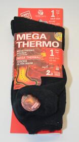Mega Thermo Socken / schwarz Gr. 47-50