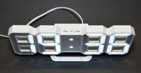 Digitale dimmbare LED Wanduhr mit vier großen Ziffern mit Weckfunktion