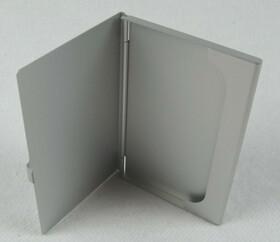 Alu Visitenkartenetui / Etui in silber für ca. 12 Karten