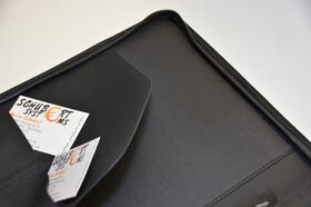 A4 Konferenzmappe mit Reißverschluss und Notizblock aus Polyester viele Fächer