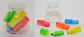 5 Mini Textmarker in verschiedenen Farben im Set mit...