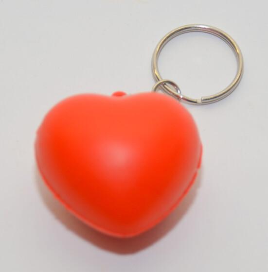 Schlüsselanhänger Schlüsselring mit Anhänger in Herzform sehr weich aus Schaum