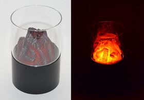 LED Dekofeuer mit Flackerlicht und Sichtglas,...