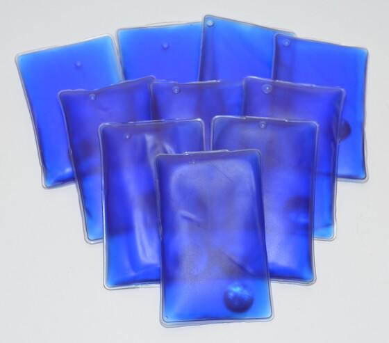 10er Set Taschenwärmer Handwärmer blau wiederverwendbar für bis zu 45 Minuten Wärme