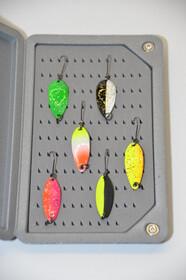 Behr Trendex L-Spoon Löffel Kunstköder sechs Stück komplett mit Zubehörbox