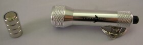 Edle Mini Taschenlampe mit 5 Power LEDs in silber