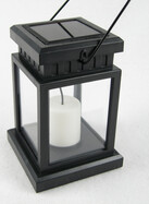 Solar LED Laterne mit orangener LED für bis zu 6 Std. Romantik