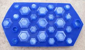 Silikon Eiswürfelform für 27 Diamant-Eiswürfel