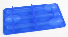 Silikon Eiswürfelform für sechs Eislöffel