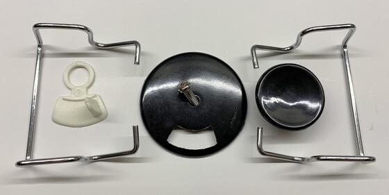 Ersatzteil-Set für den Behr Tischräucherofen mit Knopf, Schieber und Griffen