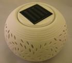Edle Solar LED Leuchte aus Porzellan mit Farbwechsler