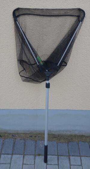 Behr Klappkescher 2-teilig Länge 1,85m / Transportlänge 80cm mit kleinem Fehler