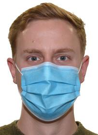 Einweg Mund- und Nasenmasken 3-lagig / blau