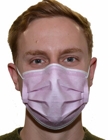 Einweg Mund- und Nasenmasken 3-lagig / rosa