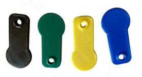Einkaufswagenchip Einkaufswagenlöser sofort abziehbar in verschiedenen Farben