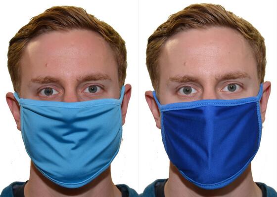 Waschbare und wiederverwendbare Mund- und Nasenmaske 3-lagig in verschiedenen Farben