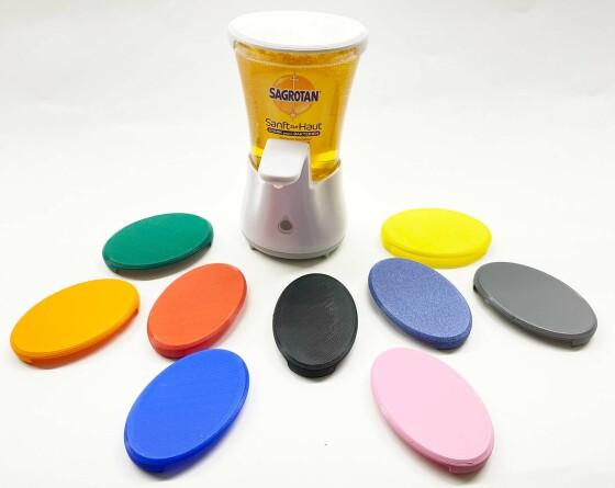 Deckel für Sagrotan No-Touch Seifenspender zum selbst Nachfüllen in verschiedenen Farben