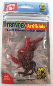 künstlicher Hakenköder Rotwurm 15 Stück