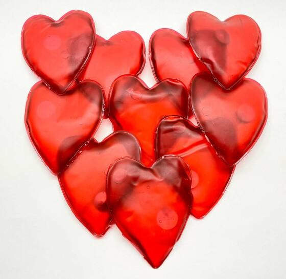 Taschenwärmer Handwärmer Herz 10er Set wiederverwendbar