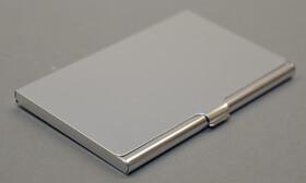 5x Vistenkartenetui aus Aluminium im Hamsterpack