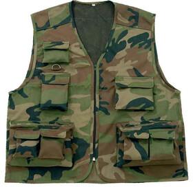 Behr Anglerweste mit 11 Taschen im Army Look / Gr. M-XXXL