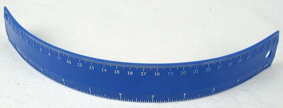 Biegsames & bruchfestes Lineal 30cm lang / unzerstörbar und superflach