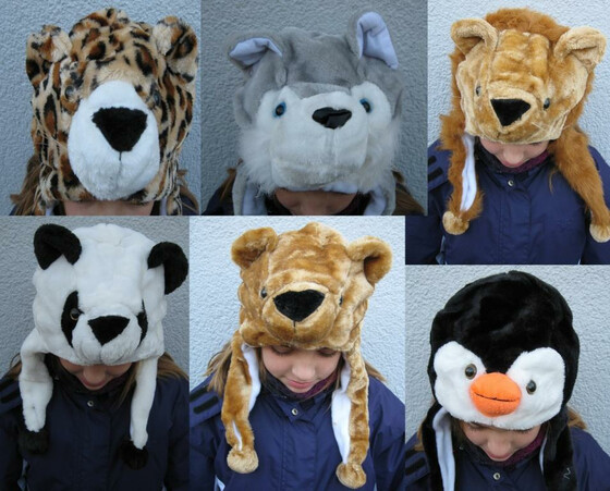 Wintermütze Mütze in Tierform div. Sorten Universalgröße für Kinder & Erwachsene