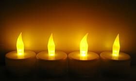 4er Set LED Teelichter mit Luftzugsensor für...
