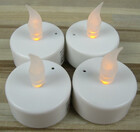 4er Set LED Teelichter mit Luftzugsensor für romantische Momente / Flackereffekt