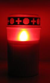 LED Grablicht Grableuchte Kerze inkl. Batterien für...