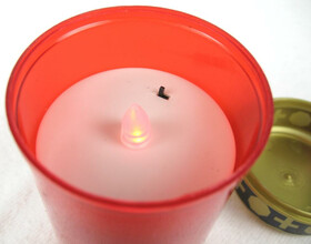 LED Grablicht Grableuchte Kerze inkl. Batterien für bis zu 200 Std. Brenndauer