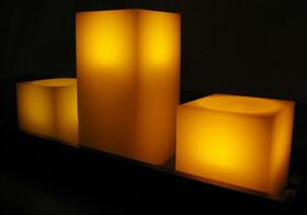 LED Echtwachskerzen 3er Set mit Fernbedienung auf einem...