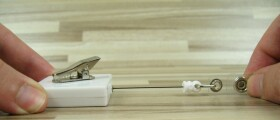 Ausweishalter mit Krokodil Clip bis 76cm ausziehbar