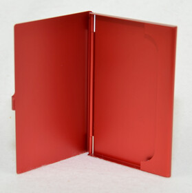 Alu Visitenkartenetui / Etui in rot für ca. 12 Karten