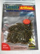 künstliche Bienenmaden Köder für Forellen bronze-glitter